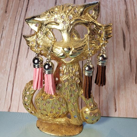 iamkimberlina Jewelry - 🧵 3/$13 - Handmade Faux Leather Tassel Earrings